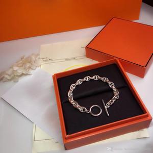 Kadınlar için Sıcak Marka Mektup Yuvarlak H Kilit Takı S925 Gümüş Bileklik Fransa Kalite Moda Üstün Kalite Lüks Bilezik