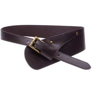 Women Belts High Quality PU Alloy Buckle Brown Cummerbunds Faux Leather Wide Cummerbunds Female Apparel Accessory Hot Sale