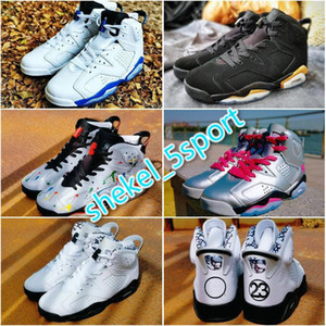 2020 New Blue AIR 6s GS Alligator Men Shoes 3M Reflective Jumpman 6 Sliver Graffiti Valentine Day Trainers Women Sneakers 36-47