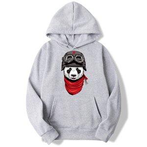 Scarf pilot panda Long Sleeve Hooded Sweatshirt Mens Hoodie Tracksuit Sweat Coat Casual Sportswear