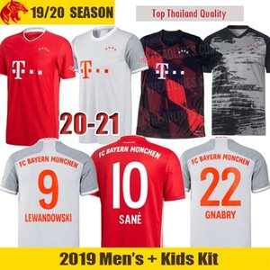20 21 Bayern Munich Camisa de Futebol SANE LEWANDOWSKI Fãs & Versão do Jogador Bayern MULLER GNABRY PERISIC Camisa de Futebol Camisa Homem Kit Crianças