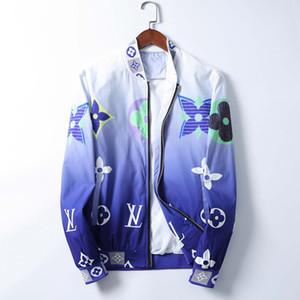 2020-х годов бренд мужской куртки Bermuda европейского хип-хоп печати длинный рукав клип осень и зима новой моды V-образным вырезом роскошных мужской пиджак