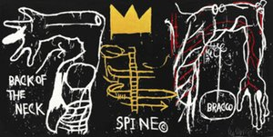 Jean Michel Basquiat Spine astratta arte della decorazione dipinta a mano HD Stampa della pittura a olio su tela di canapa di arte della parete della tela di canapa Immagini 200802