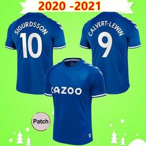 20 21 Everton Soccer Jersey RICHARLISON KEAN SIGURDSSON Football Shirt 2020 2021 TOSUN WALCOTT Thailand quality Home Men Kids Kit boys set