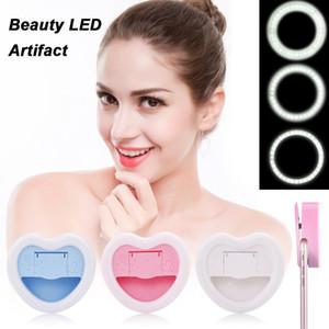 VBESTLIFE Téléphone mobile selfie Remplissage d'éclairage LED Portable lumière 23 perles lampe w / miroir de maquillage pour tous les smartphones Livraison gratuite