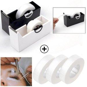 Estensione del ciglio di panno senza rilievi dell'occhio nastro di plastica taglierina dispenser innesto ciglia adesivo Supporto di nastro utensili da taglio trucco