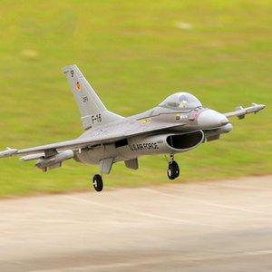 FMS Avião RC 64 milímetros F16 F16 V2 vigilantes canalizado Ventilador FED Jet Escala Cinza Warbird lutador Modelo passatempo plano Aeronave Avion PNP 66