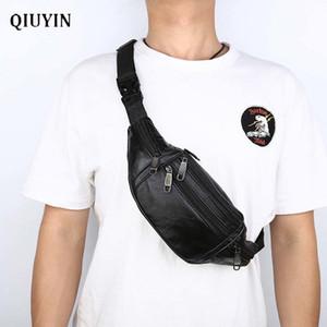 Qiuyin New Chic Hommes / homme Ceinture Voyage Vintage Fanny poitrine / hanche / ceinture Sac étanche Pouch coréenne Paquet Bum MX200717