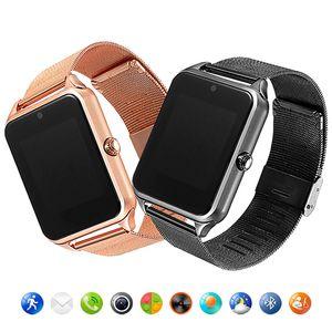 Z60 Edelstahl Bluetooth Smart-Uhr-Telefon Clock Music Alarm Kamera Fitness Tracker Smartwatch für IOSAndroid