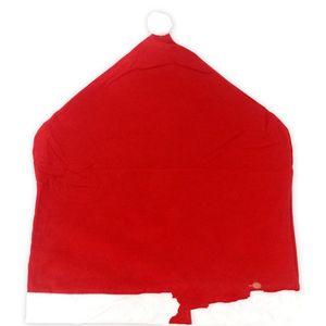 Rojo tela no tejida Cubre Sillas decoraciones de la boda de Navidad cubierta de asiento del Sombrero de sillas de oficina en forma de manga muebles para la sala 1 6QY B2