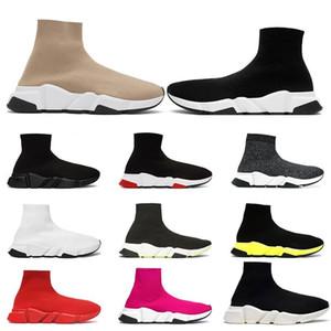 Lüks tasarımcı streç hız eğitmen siyah Tan insanlar hız orta-yüksek uca koçu çorap spor ayakkabı rahat ayakkabı bayan ayakkabı