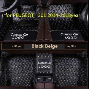 Maßgeschneiderte Auto Bodenmatte wasserdicht PU-Leder Material, geeignet für PEUGEOT 301 2014-2018year