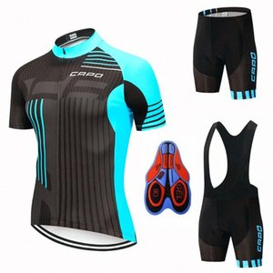 2020 2020 YENİ CAPO Pro Cycling Formalar Seti Yaz Bisiklet Giyim Dağ Bisikleti Giyim Bisiklet Giyim MTB Bisiklet Giyim Takım Elbise luhY #
