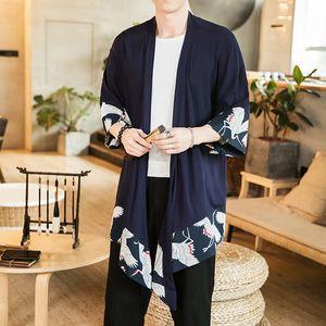 Etnik stil güneşten güneşlik Cloak giyim yarım kollu gömlek kısa kollu gömlek pelerin vinç elbise kimono