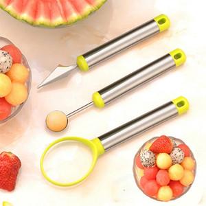 3шт Творческий Фруктовый Нож Набор Арбуз Baller Ice Cream Dig Бал Scoop Ложка Baller Diy ассорти Холодные блюда Инструмент DBC BH3914