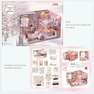 Miniatura Cutebee muñeca muebles de la casa de habitación palco juguetes para niños Casa de muñecas DIY L22C MX200414