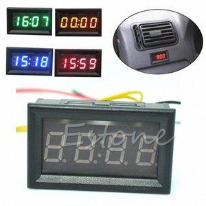 12V 24V Car Motorcycle Accessory Dashboard LED Display Digital Clock WinH#