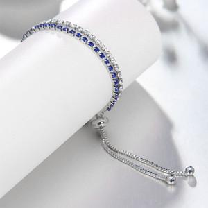 European and American crystal bracelet 2018 luxury light-encrusted zircon bracelet Ms. simple adjustable hand jewelry fashion bracelet