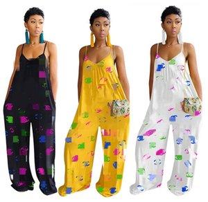 Kadınlar tasarımcı jumpsuits tulum tulum tek parça pantolon playsuit yeni sıcak satış gevşek geniş bacak tulum seksi giyim klw1809 womens