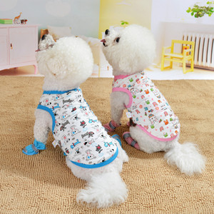 Fashion Multicolor Dog Clothes Spring Summer Poodle Vest Pet Supplies Puppy Apparel Comfortable Cartoon Skin Friendly 4 5md D2