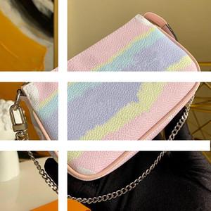 Verkauf ESCALE Pochette Accessoires M69269 Frauen Mini Designer Clutch Hobos Tasche mit Kette New Tie Dye Riesen-Serie Kleine Taschen