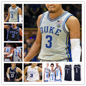 Özel 2020 Yeni Duke Basketbol Jersey Koleji Joey Baker Kırmızımsı Tatum JJ Redick Irving Barrett Tre Jones Trevon Duval Vernon Care dikişli