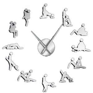 Single Naughty Game Wall Decoration Diy Giant Big Wall Clock Guess Gender Position Hardcore Female Man Man Woman