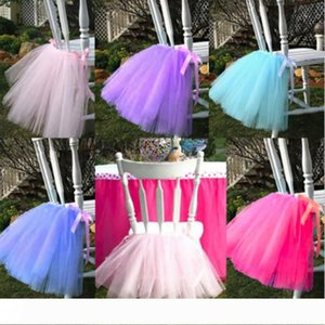 50cm*45cm European Style Chair Tutu Skirt Lovely Ruffles Wedding Decorations Chairs Covers Birthday Party Supplies Hot Sale 18mr Y