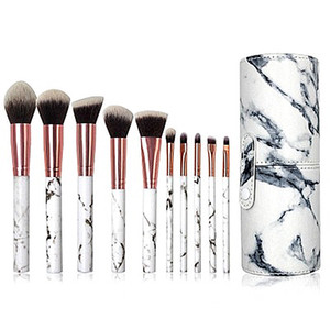 10  12 Beauty Brushes Beginners to Brush Students' Eyeshadow Beauty Tools a set of Barrels Makeup Eyebrows Soft Brushes.