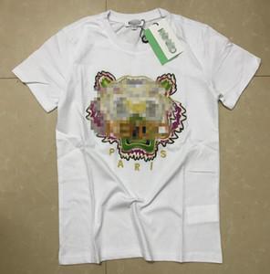 GG concepteur mens gros T-shirts écran hip hop impression tigre pleine vêtements pour hommes designers chemises taille plus bleu kaki L211