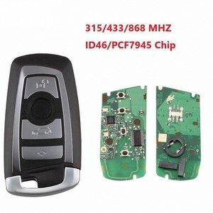 4 Botão Smart Car Key Remote 315/433/868 MHz para Série BM W F CAS4 5 Series 7 Uncut Lâmina 805i #
