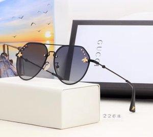 남성 여성 무테 구형 디자이너 선글라스 안경 선글라스 하트 박스 Oculos Masculino KLY150 유리 금속 프레임 모양