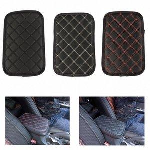 Pad en cuir de voiture Housses Centre universel Accoudoirs Console automatique Siège Accoudoirs Box Tapis Noir Protection Accoudoirs Stockage Coussin WxXo #
