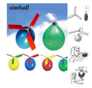يوم 1PC الهواء التضخم لعبة بالون طائرات الهليكوبتر لعبة مضحك بالون Ortable في الهواء الطلق هليكوبتر تحلق للأطفال حفل عيد ميلاد للأطفال هدية