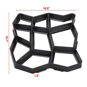 Plastic Driveway Concrete Stone Mold Paving Pathway Stepping Stone Mould Garden