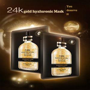 24K gold foil Intensive Repair Thin and transparent skin Lighten pockmarks Black Face Skin Care Easy absorb Mascarilla Face masks