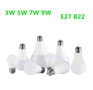 LED Light Bulbs White No Flicker 3W 5W 7W 9W E27 B22 Medium Screw Base Bulbs