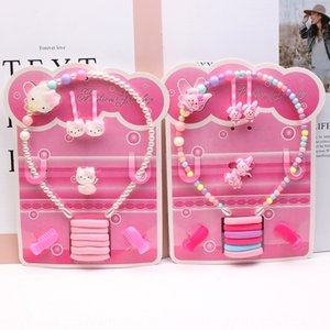 Korean style accessories children pearl 13-piece combination set band pearl hair band hair clip girl baby headwear boutique C75