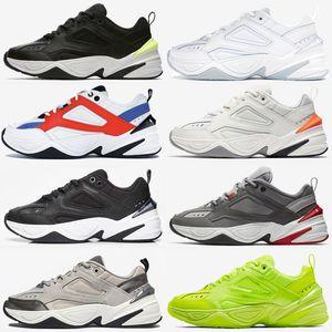 2020 M2K Tekno Mens klassische beiläufige Alte Schuhe für Frauen sportlich im Freien Platin Tönung Atmosphäre grau schwarz-Sport-Trainer-Turnschuhe