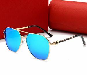 2020 New polarizing sunglasses for men and women metal dazzle fashion Cartİer sunglasses travel driving leisure versatile 0129