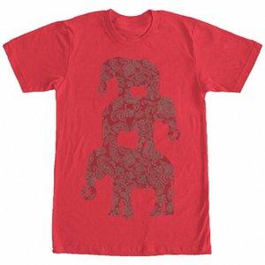 Verlorene Götter Drei Elephant Pyramide der Männer-Grafik-T-Shirt Long Sleeve T Shirt Entwerfen Sie Ihr eigenes T-Shirt 3LgR #