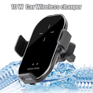 10W Car Charger wireless Qi veloce Supporto per caricabatterie adattatore del cunicolo di ventilazione per IPhone 11 Pro Samsung A71 Moto Stylo con la scatola di vendita al dettaglio