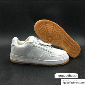 brang Wholesale Travis Scott 1 Low One Sail Gum Light Brown Athletic Shoes New Fashion Cactus Jack Sport Sneakers
