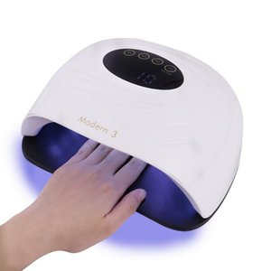 New 120W UV Lamp for Nails Gel Polish Curing with Large LCD Screen Infrared Sensor 45 pcs Leds Quick Drying Nail Polish Machine
