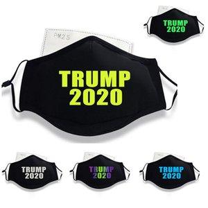 Luminous Trump Máscara Facial 2020 Supplies eleição americana Dustproof Máscara Anti Smog Cotton Protective Reflective coloridas máscaras YYA262