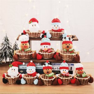 New Christmas Decorations for Home Santa Claus Snowman Elk Fruit Candy Baskets Ornaments New Year 2020 Decor Accessories