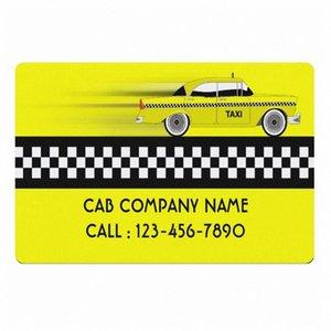 Yellow Controllato Taxi Cab dell'azienda Settore personalizzato benvenuto Zerbino New York Cabs Servizio driver personalizzato Zerbino Tappeto Tappeto hbe6 #