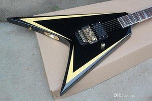 Guitarra Elétrica preta com 1 Captador Serrilhada, Inlay, Floyd Rose, Palisander Griffbrett, oferecendo serviços personalizados