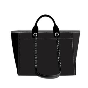 3A YENİ üst alışveriş çantası kadın çantası moda klasik kadın ve erkek cüzdan tuval çanta siyah, mavi, beyaz renkli desen dokuma alışveriş çantası