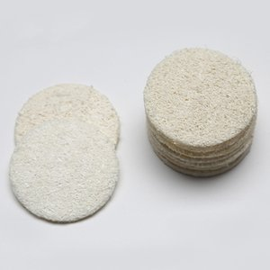 5.5cm Round Natural Eco Friendly Loofah Pad Face Makeup Remove Gentle Exfoliation Dead Skin Bath Shower Loofah Cerative Scrubbers BH2329 CY